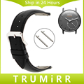 18mm Quick Release Watch Band Calf Genuine Leather Strap for Withings Activite / Steel / Pop Wrist Belt Bracelet Black Brown