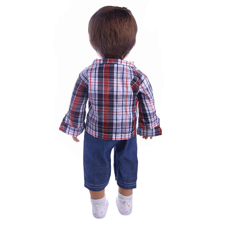 الطازجة وجميلة المطبوعة دعوى ، مناسبة تناسب 18 بوصة الأمريكية 43 سنتيمتر ملابس دمى الطفل الملحقات