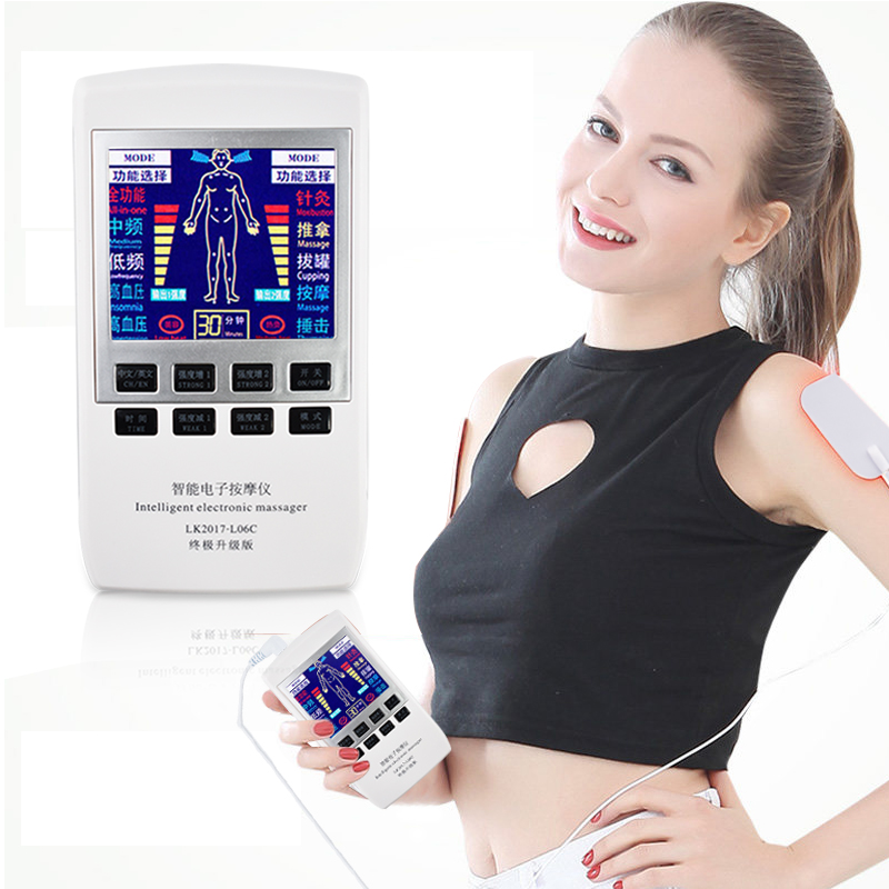 New Household Electric Therapy Massager Tens Acupuncture Cupping Pulse Body EMS Muscle Stimulator Digital physiotherapy Machine digital therapy machine tens ems massager portable electronic pulse massager legs neck back massagae slimming muscle stimulator