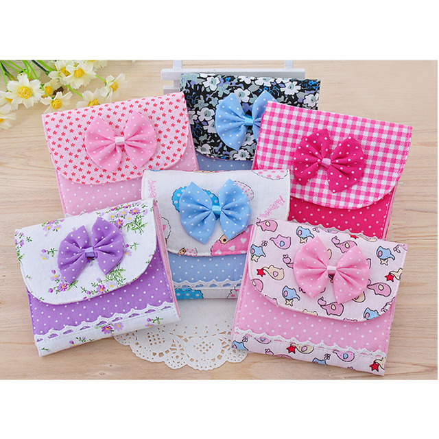 portable Feminine Sanitary Pads cotton Admission package  Hygiene Product bags Menstrual Pads package Feminine Hygiene Product