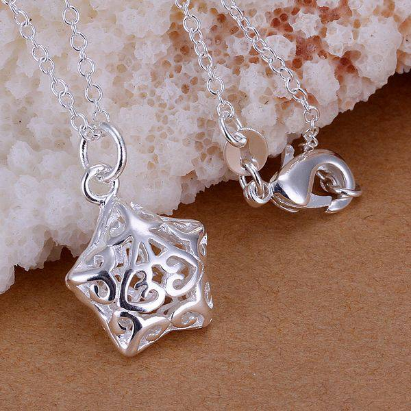 P180 Free Shipping silver plated Necklace, 925 fashion silver jewelry Fashion Pendant /SGWVEXXO SGWVEXXO