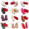 2016 nuevos zapatos de bebé muchachas de la princesa suave Suela roja infantil del bebé Mocasines de cuero de la pu botas zapatos de bebe