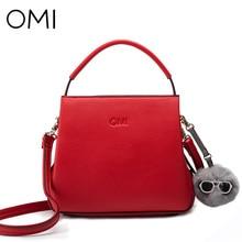 OMI Women's handbags Women's bag Female's handbag famous designer brand bags luxury designer leather shoulder bags Fashion Tote