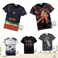 High quality summer big boys popular three-dimensional personality 3d pattern printed short-sleeved round neck T-shirt 14-20 yea
