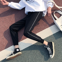 Summer and Autumn New S-2XL Slim Loose Harlan Casual Mens Cropped Pants Individuality Fashion Popular Simple Youth City Campus