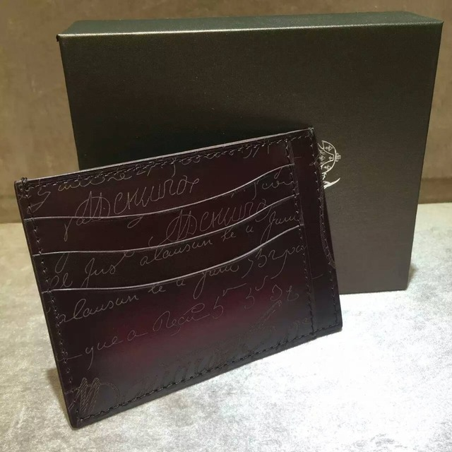 TERSE_Factory wholesale price handmade leather credit card holder genuine leather card holder wallet for men 2 colors in stock