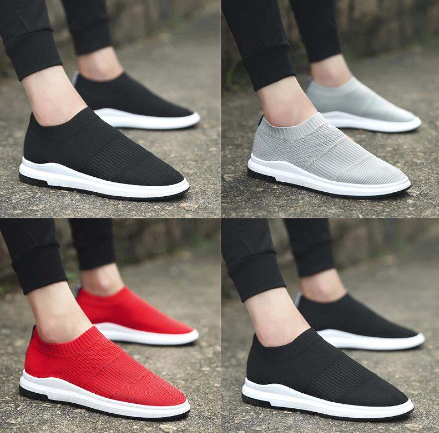 SAGYUA Spring Autumn Men Breath Casual Fashion Knitting Students Youth Person Male Hombre Slip On Sock Flat Loafers Shoes T186