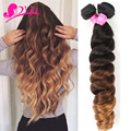 8A Aliexpress Hair Extensions Ombre Peruvian Hair Loose Wave Modern Show Hair 3 Tone 1B#4#30 Peruvian Virgin Hair 4 Bundles