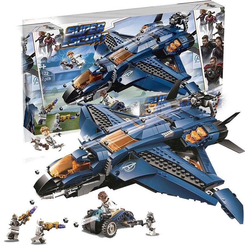 Avengers 4 Endgame Avengerss Ultimate Quinjet Set 76126 Building Blocks Bricks Boy Toys in Blocks from Toys Hobbies