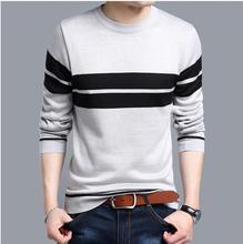 2017 New Winter Long Sleeve Striped Men Pullover Sweater Male Casual Sweater Knitwear Plus Size M-4xl
