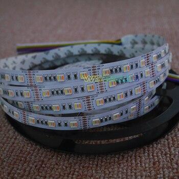 5 Mt DC12V/24 V RGBWW 5 Farbe In 1 Led Chip LED Streifen, SMD 5050 Flexible Licht RGB + Cool White & Warm Weiß, 60 Leds/m IP30/67