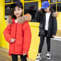 New Arrived Baby Girl Winter Down Coat Kids Plus Thick Clothing Children Warm Outwear Infant Padded Jacket for 4 to 9 Years