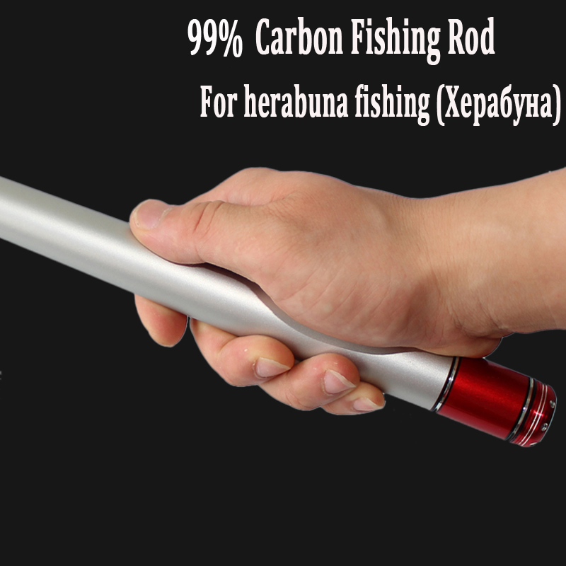 Telescopic fishing rod made of high carbon fiber herabuna fishing rod 3.6 4.5 5.4 6.3 7.2M Superhand ultralight hand rod