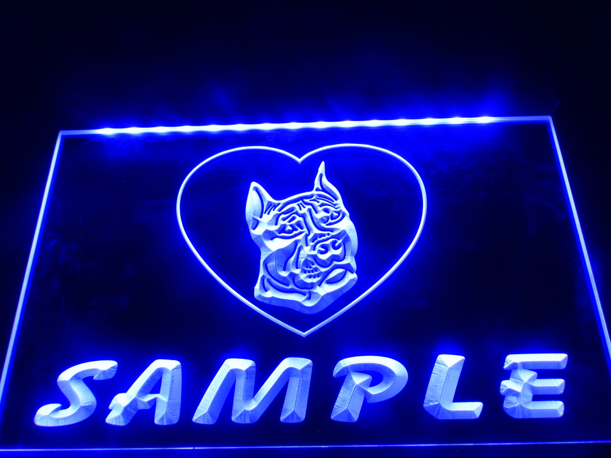 Dz075 Name Personalized Custom Pit Bull Dog House Home Neon Sign Hang Sign Home Decor