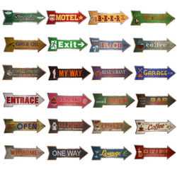 Exit Way Out Metal Arrow sign Vintage Tin Signs Advertising Board Restaurant Coffee Cafe Bar Pub Wall Stickers Decor