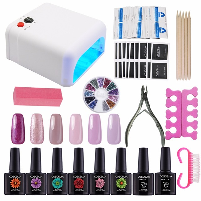 Kit Nail Gel Manicure Set 36W Dryer Nail Art Set Kits Manicure ...