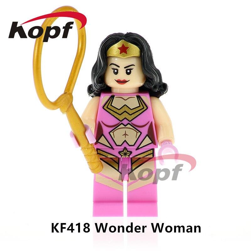 Один продажа Super Heroes Wonderwoman танос чудо Невидимая женщина человека кирпичи действие строительные Конструкторы Детский подарок Игрушечные ло...