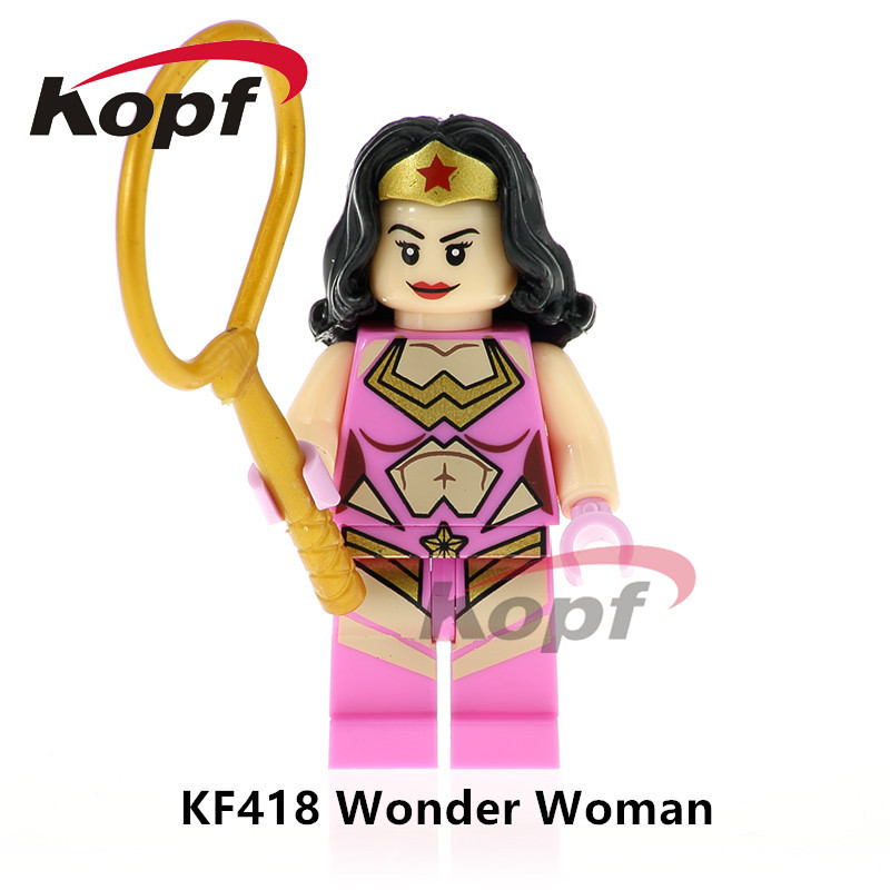 Single Sale Super Heroes Wonderwoman Thanos Wonder Invisible Woman Human Bricks Action Building Blocks Children Gift Toys KF418 single sale super heroes master wu garmadon nya the wei snake lloyd bricks ninja movie building blocks children gift toys pg1020
