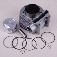 DWCX 61mm 12pcs Cylinder Piston E ring Gasket Kit fit for GY6 125CC 150CC Scooter ATV Motorcycle