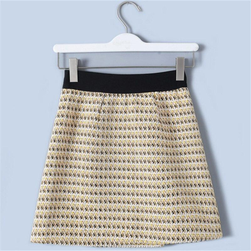 Alta Cremalleras Rayas De Cintura Falda Striped Lolita 2019 Verano Pista Yellow Mujeres Fondo Mini Nuevo Corta Botón Tunjuefs zq6Eg