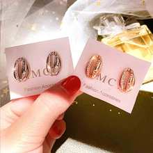 Fashion Creative Women Earrings Gold color plated Metal Shell trends Female Drop earrings Korean design 2019 Summer New