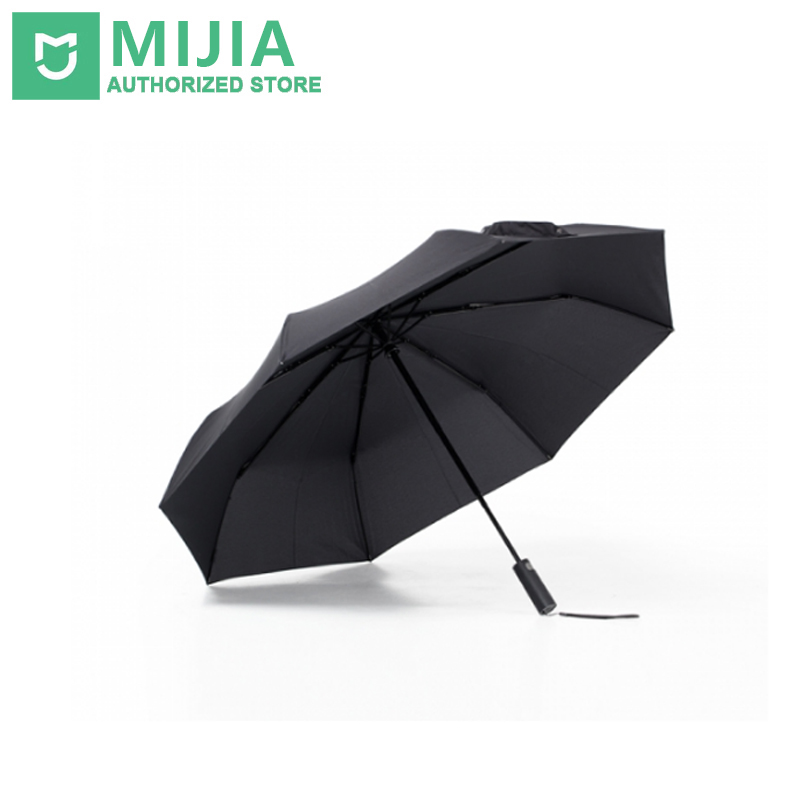 Nuevo Original Xiaomi Mijia Paraguas automático lluvia soleado viento de aluminio UV impermeable hombre mujer invierno verano