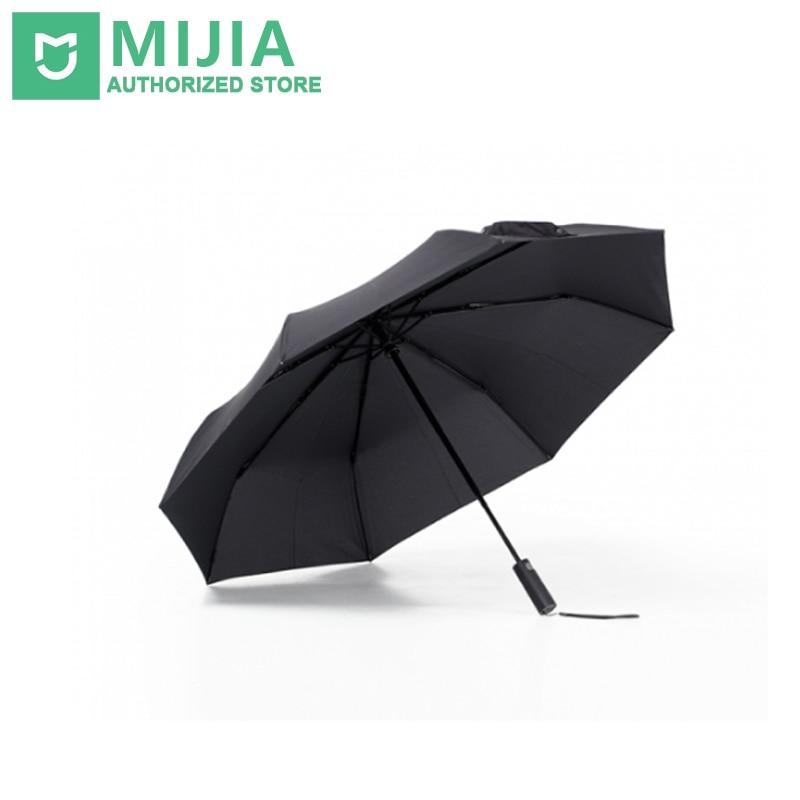 Original nuevo Xiaomi Mijia Paraguas automático soleado lluvia aluminio resistente al viento impermeable UV hombre mujer verano invierno
