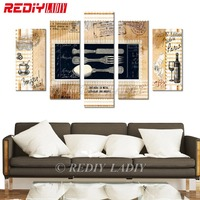 REDIY LADIY Diamond Painting Triptych Full Square Crystal Modular Picture Abstract Drawing Wall Art Multi Picture Kitchen Decor