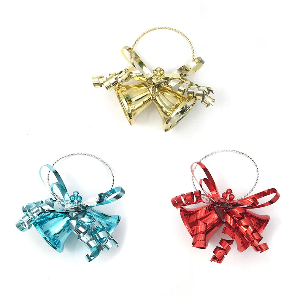 Gold Iron Vacuum Christmas Opening jingle Bells Pendant Handmade Party DIY Crafts Accessories