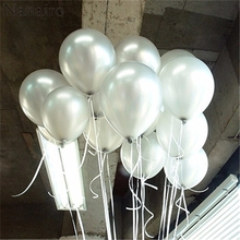 10pcs/lot 1.5g  Silver Latex  Inflatable Balloon Air Balls Wedding Party Decoration Birthday Kid Party Float Balloons Kids Toys