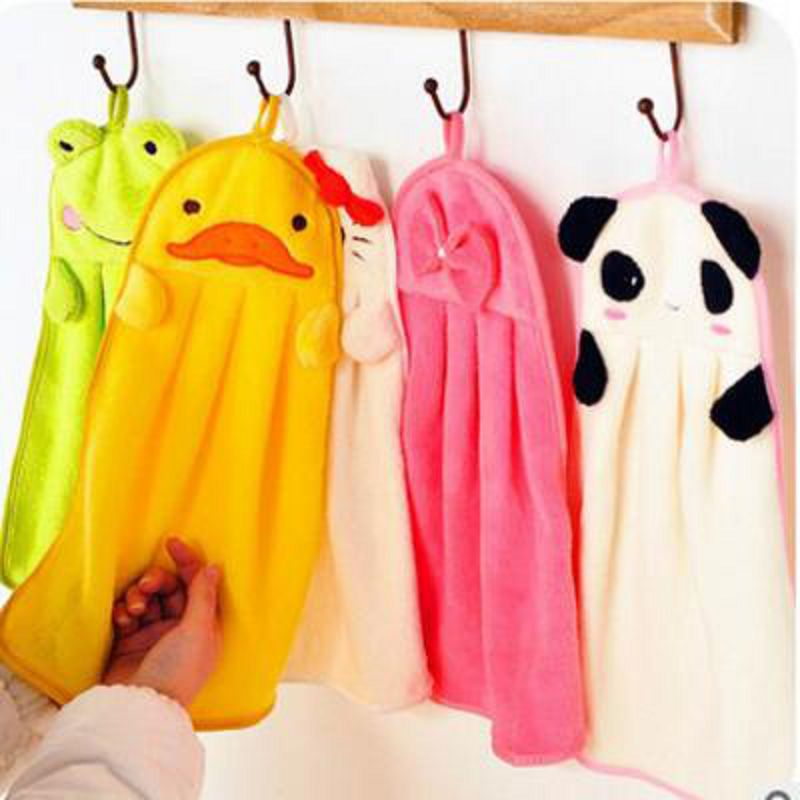 Cute Animal Microfiber Kids Cartoon Cartoon Absorbente Toalla Toalla - Textiles para el hogar
