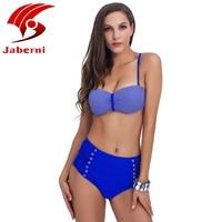 Sexy Bandeau Bikini 2017 Push Up Swimwear Women Striped Swimsuit Halter Top Biquini Maillot De Bain