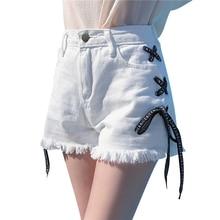 Denim High Waist Shorts Women Summer Casual Sweatpants Rave Korean Fashion Mini Short Feminino Hotpants Jeans Woman Shorts 5F104