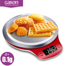 GASON C4 LCD Kitchen Scales Digital Gram Metal Electronic Accurate Balance Mini Cooking Food Measure Tools Pallet Food 3kgx0.1g