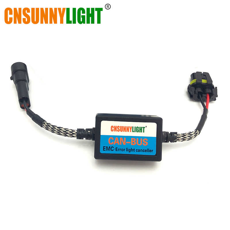 CNSUNNYLIGHT 1piece Hid EMC Error Canceller Wires Harness Canbus AC Xenon Ballast Warning Free For Car HID Headlight Waterproof