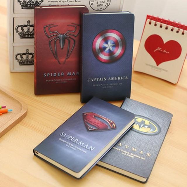 Блокнот Эмблемы Супергероев марвел и ds comics 1