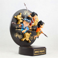 Anime ONE PIECE Monkey D. Luffy Sabo Portgas D. Ace Childhood Memory Dago Sankyodai Action Figure Decoration G2403