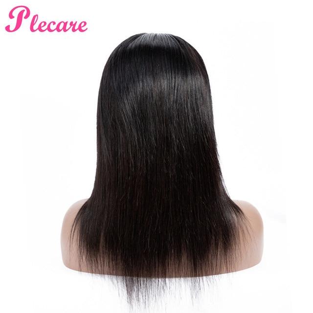 Plecare frente de encaje pelucas de cabello humano para las mujeres negras recta de encaje frente peluca brasileña del pelo no Remy del pelo del Color Natural extensiones de