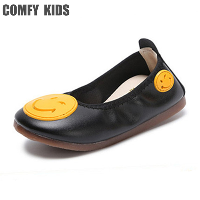 COMFY KIDS Cute Soft Leather Girls Shoes Fashion Casual Flat With Baby Girls Dance Shoes Spring Autumn Student Shoes ...