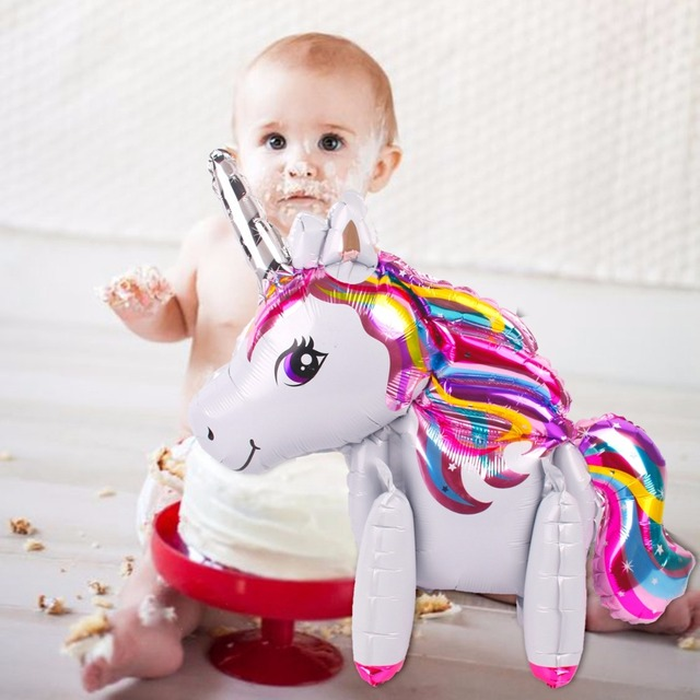 FENGRISE Foil Unicorn Balloons Birthday Party Decorations Kids Happy Birthday Letter Balloons Unicorn Party Decor Baby Shower