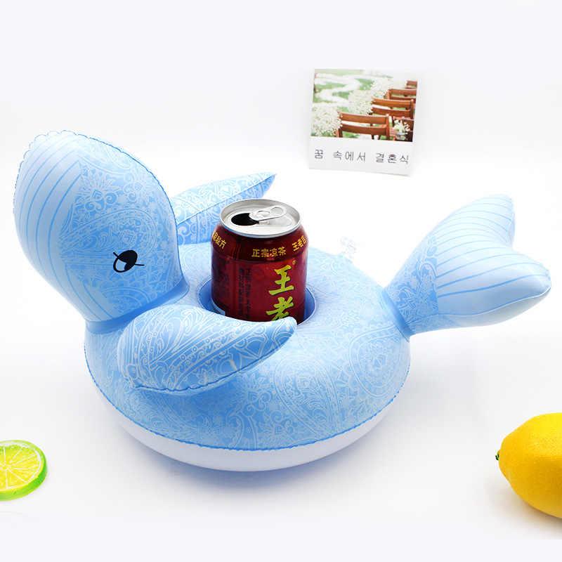 Rooxin Inflatable ผู้ถือเครื่องดื่มเรือยูนิคอร์น Flamingo Inflatable ถ้วยสำหรับสระว่ายน้ำว่ายน้ำ Float เบียร์ฤดูร้อนถาดบาร์
