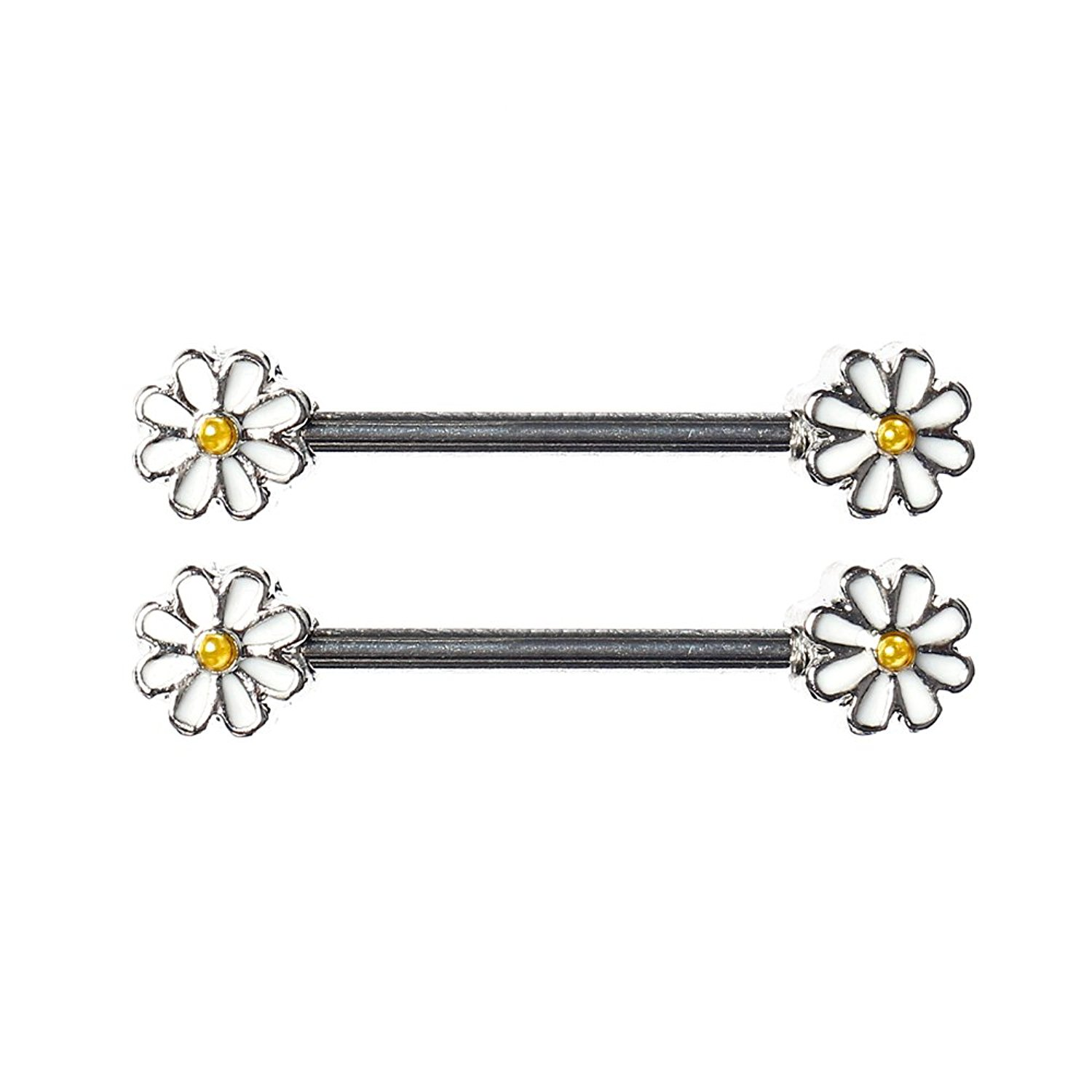 BAQI Nipple Barbell Ring piercing bar stainless steel