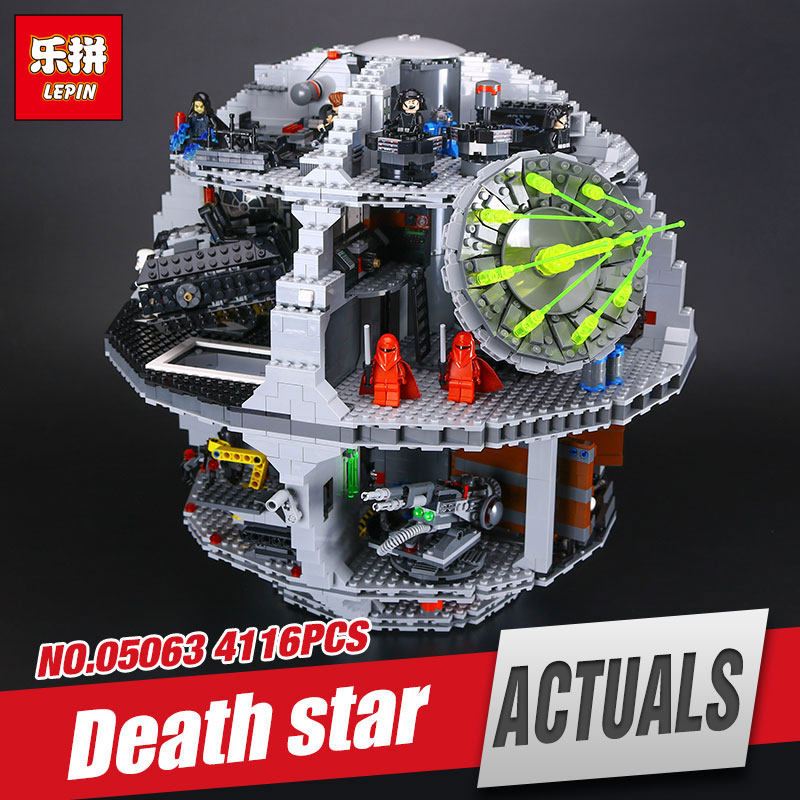 Lepin 05063 4016pcs New Genuine Star War Force Waken UCS Death Star Educational Building Blocks Bricks Toys Boy Toys Gifts 75159