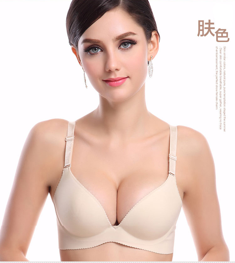 7e60405d7f8f8 Intimates new sexy push up bra sex Seamless lovely Bra Gather breast bra  push up Brassiere big Size A B C Cup top sexy Women Bra