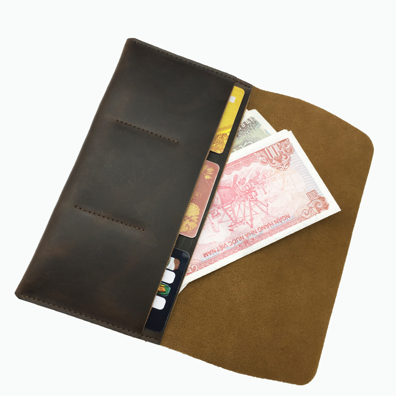 Long Purse Men Wallet  Thin Genuine Leather Credit Card WalletsLong Purse Men Wallet  Thin Genuine Leather Credit Card Wallets