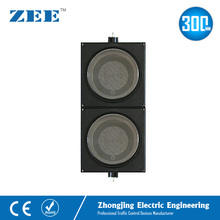 12 inches 2x300mm LED Traffic Light Housing PC Plastic Traffic Light Parts IP65 Water Proof Traffic Signal Accessories