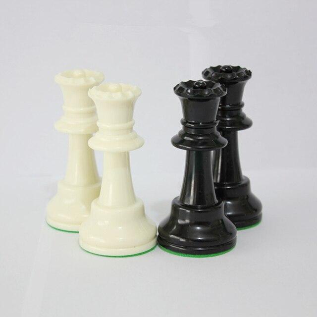 Jeu d'échecs Standard International King 97mm(3.82 pouces), grand jeu d'échecs en plastique avec échiquier, 4 jeux arrière Yernea 5