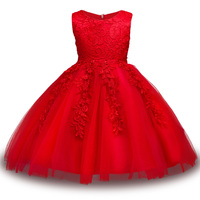 Baby Girls Flower Bowknot Wedding Party Gown Children Tutu Dress Girls Princess Dress Birthday Kids Clothes
