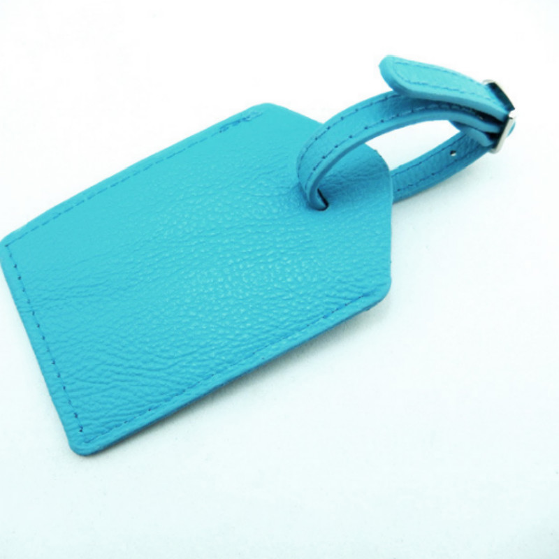 Pure Color Waterproof PU Leather Luggage Tag Portable Label Suitcase ID Address Holder Baggage Boarding Travel Accessories
