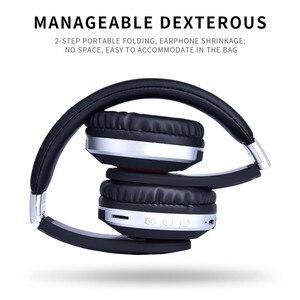 Image 3 - MH7 bluetooth kablosuz kulaklıklar Katlanabilir stereo oyun kulaklığıı Mikrofon Desteği TF Kart IPad Cep Telefonu için